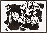 Póster Fullmetal Alchemist Winry Alphonse y Edward Grafiti Hecho a Mano - Handmade Street Art - Artwork