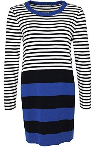 Oui Damen Kleid Navy und Blau