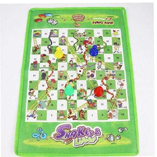 Case Cover Snake Leiter Erwachsene Kinder Spielzeug Brettspiel Flight Schach Lustige Lernspielzeug Family Party Spiele Spielzeug für Kinder Tuch