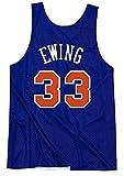 WSWZ Camiseta De Baloncesto De La NBA - Knicks 33# Patrick Ewing Camisetas De La NBA para Hombre - Chalecos Cómodos Casuales Camisetas Deportivas Camisetas Sin Mangas,XXL(185~190CM/95~110KG)