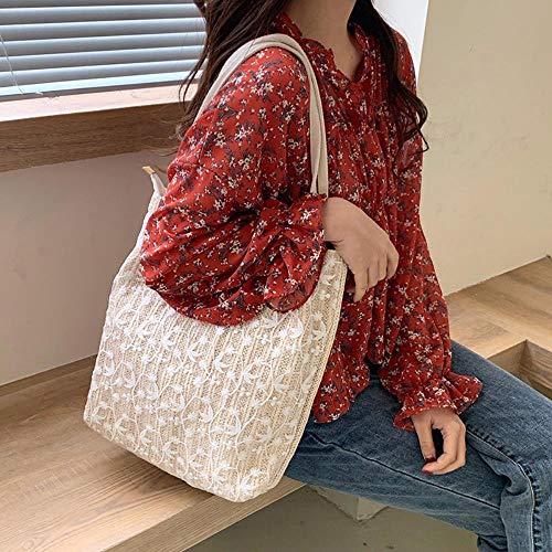 AYN Damenhandtasche Sommer Damen Umhängetasche Beuteltasche Tasche große Taschen, Beige, 27X26X9cm
