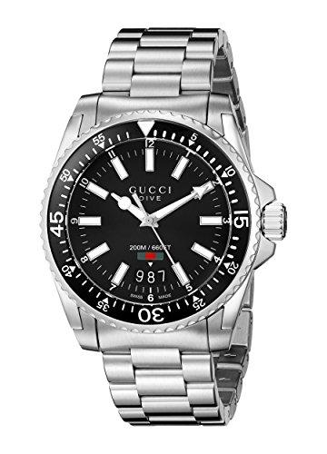 Gucci Analoog Quartz Horloge voor heren met RVS Armband – YA136301