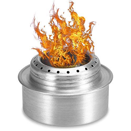 Lixada キャンプストーブ 薪ストーブ ウッドストーブ 焚き火台 バーベキューコンロ 二次燃焼 燃料不要 ネイチャーストーブ 携帯用コンパクト 折りたたみ式 アウトドア キャンプ 焚火台 アルミ/ステンレス/チタン製