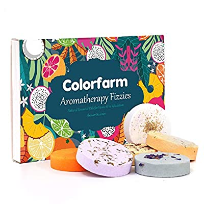 Shower Steamers Colorfarm Shower Tablets with Essential Oils