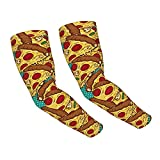 Colorful Pizza Slices Arm Sleeves UV Sun...