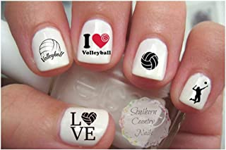 Set of 80 Sports Volleyball Nail Art Decals