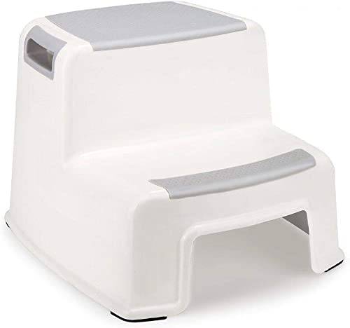 GETKO WITH DEVICE Portable Sturdy Plastic Squat Bathroom Potty Step Stool for Western Toilet for Kids (White)