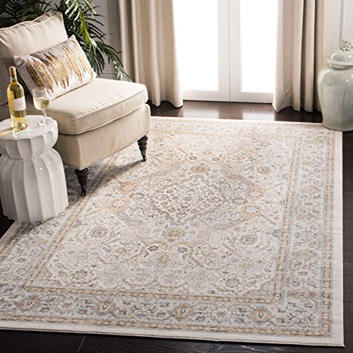 Safavieh Isabella Collection ISA916B Oriental Non-Shedding Living Room Bedroom Dining Home Office Area Rug, 5'3' x 7'6', Cream / Beige