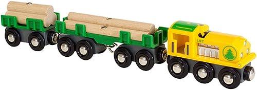 HXGL-Jouet wagon Jouet pour Enfants en Train sur Rail en Bois à Plusieurs Sections, modèle de Jouet (Taille   L)