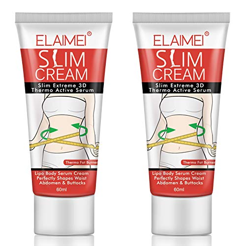 Hot Cream 2 Pack, Extreme Cellulite Slimming & Firming Cream, Body Fat Burning Massage Gel, Slim Cream for Shaping Waist, Abdomen and Buttocks