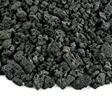 Black 3/8 Inch Lava Rock | Fireproof and Heatproof Volcanic Lava Rock, Perfect for Fire Pits, Fireplaces, BBQs and More. Indoor and Outdoor use - Natural Stones | 10 Pounds