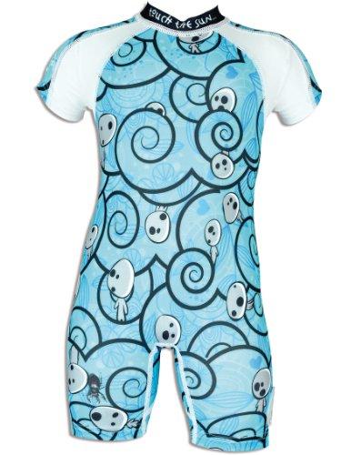 4BB2 Mädchen UV Schutz Schwimmanzug Princess, blau, 9 Monate, 60061/9M