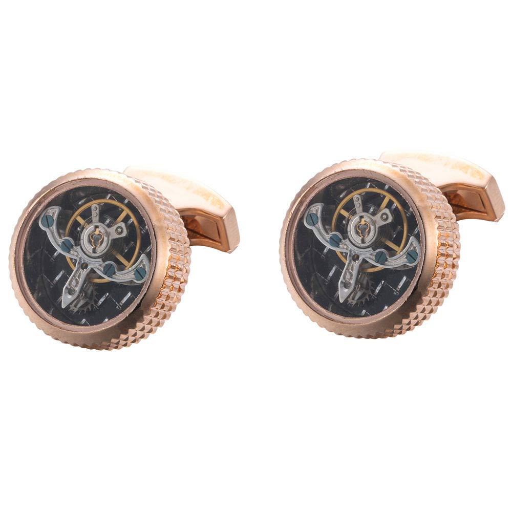 WEJNNI Mangas De Puño Gemelos Tourbillon Cuffs Rueda de Equilibrio Gemelos mecánicos Reloj Camisa de Hombre Mangas Gemelos: Amazon.es: Hogar