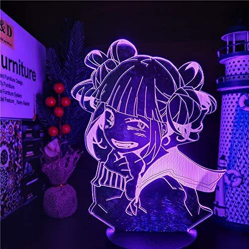 My Hero Academia Himiko Toga 3D Anime Lamp Boku No Hero Academia Cross My Body Night Lights Para La Decoración Del Dormitorio