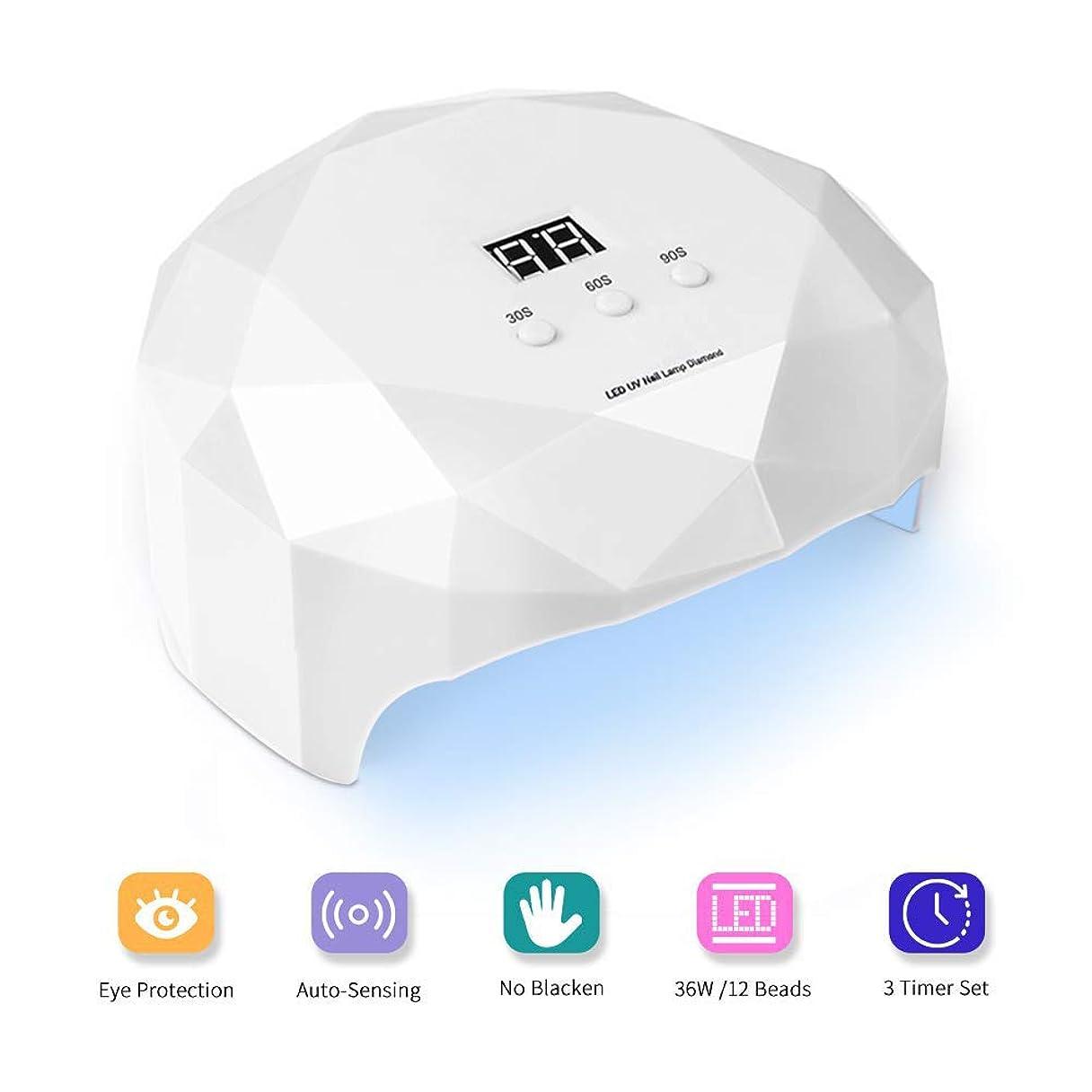 りんご自発的腹痛LED UVジェルネイルドライヤー硬化ランプ3回プロフェッショナルライトLEDジェルネイルポリッシュアートセンサー付き