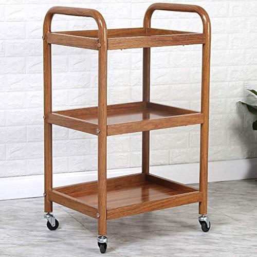YLCJ trolley voor keuken, mobiel, gereedschapswagen, 3 lagen, houder voor eetkamer, (imitatie), kleur: ijzer, maat: A)