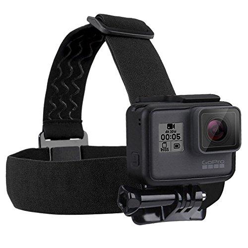 Correa para la cabeza ajustable y elástica con soporte para poner GoPro Hero5 Hero4 Session Hero 5 4 3+ 3 2 1, accesorios para cámara deportiva, color Head Belt