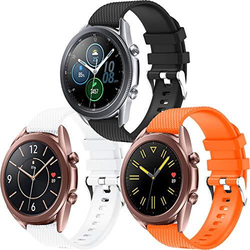 Correa Samsung Galaxy Watch Active 2 / Active 40mm 44mm, Correa de Reloj 20mm Silicona Banda de Reemplazo Pulsera Deportiva de Repuesto para Galaxy Watch 3 41mm/Galaxy Watch 42mm/Gear Sport/Gear S2