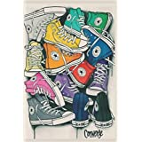 """converse Shoes Notebook: Notebook 120 pages   6"""" x 9""""   Collage Lined Pages   Journal   Diary   For Students, Teens, and Kids   For School, College, University, and Home"""