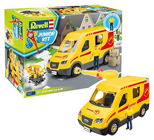 Revell Revell_00814 814 Paketdienst-Fahrzeug mit Spielfigur Junior Kit, Bunt, Länge ca. 26 cm
