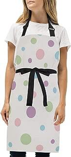YIXKC Apron Dotty Pink Polka Adjustable Neck with 2 Pockets Bib Apron for Family/Kitchen/Chef/Unisex