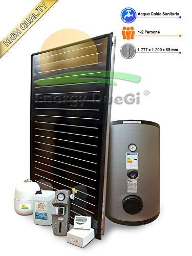 Kit impianto solare termico ad elevate prestazioni per produzione Acqua Calda Sanitaria, 1-2 persone, bollitore 150 litri, FKF200