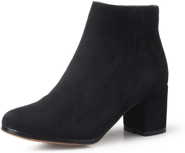 BalaMasa Womens Nubuck Solid Boots Urethane Boots ABM12307