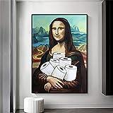 Kingkoil Lustige Mona Lisa Toilettenpapier Poster Drucker