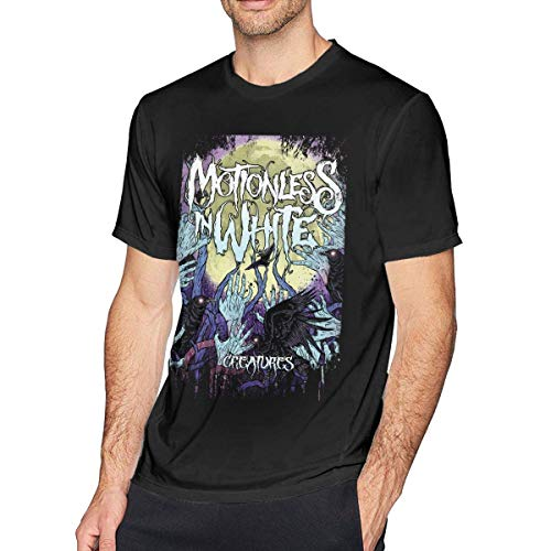 Camiseta de Manga Corta para Hombre Motionless in White Creatures Cómoda Camiseta de Cuello Redondo de algodón de Moda XXL