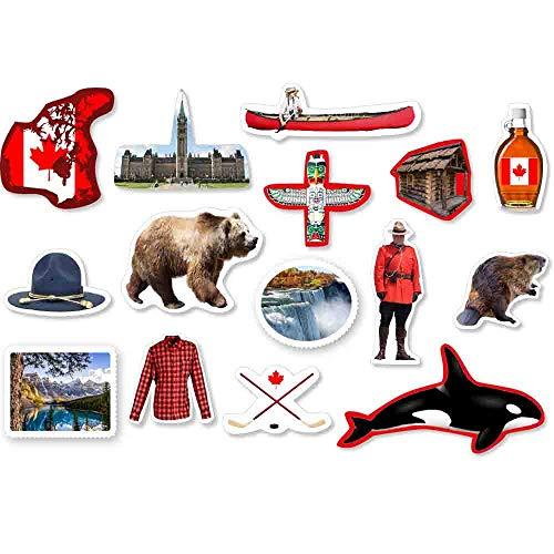 XXL-Konfetti Kanada 54-TLG.