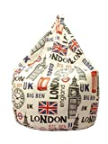 13Casa - Londra A9 - Poltrona sacco. Dim: 70x70x110 h cm. Col: Fantasia. Mat: Cotone/Poliestere.