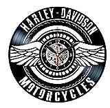 TTZSE Orologio in Vinile Davidson - Decorazione da Parete in Vinile - Regali Vintage per Uomo Harley Davidson 12 Pollici