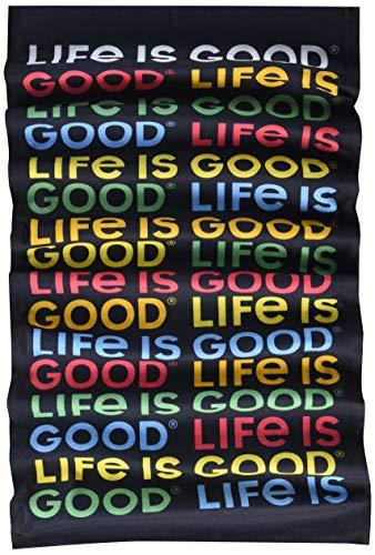 Life Is Good Unisex-Erwachsene Stirnband Gamasche, Jet Black, Einheitsgröße