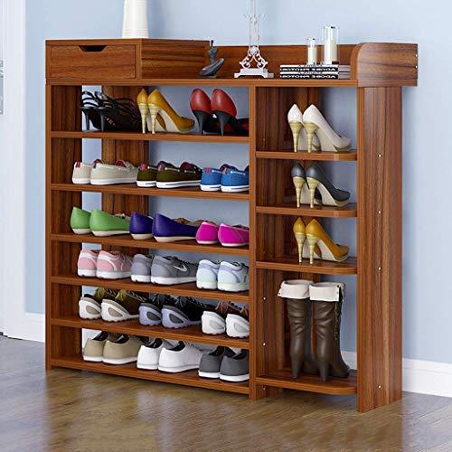 B-fengliu 7/8-capa estante del zapato estante Soporte de flor estantería zapatero estante de almacenamiento multifunción Hogar Portal Entrada salón Ahorro de espacio ( Color : A , Size : 80*24*113CM )