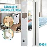 Sello de ventana ajustable para aire acondicionado móvil,deslizador de placa de sellado de ventana universal con manguera de escape para aire acondicionado portátil, fácil de instalar (2 piezas 1.3 m)