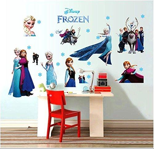 Wandtattoo Wandaufkleber Wandsticker Elsa Eiskönigin Let it Go Anna Olaf Frozen Wohnzimmer Kinderzimmer 70 x 110 W005 Viwaro