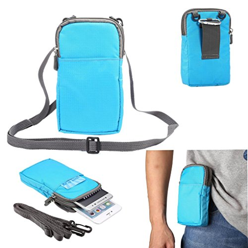 Universal Crossbody Cell Phone Purse Waist Pack Bag for Outdoor Sports Moblie Phone Carrying Cases Shoulder Belt Bag Pouch for iPhone 7 6/6S Plus Samsung Galaxy Phones Under 6.0'' from WaitingU