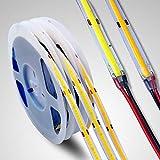 Tira de LED COB de 12 V de 5 m 384/528 LEDs/M LED cálido/natural/blanco frío de alta densidad FOB tira de luces LED flexible para fiestas, contador, estante, decoración del hogar