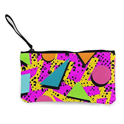 SDFGJ Fashion Women Wallets Cute Print Coin Purse Travel Makeup Pencil Pen Case with Handle Coin Canvas Zipper Pouch