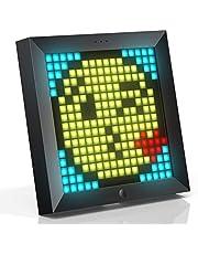 Divoom Pixoo pixel kunst digitale fotolijst met 21 cm sfeer licht App controle, bureau/muur led slimme klok, decoratieve lamp voor gaming kamer thuis decoratie(Zwart)