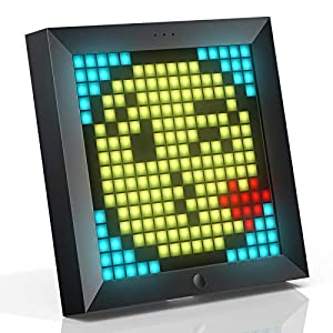 Divoom Pixoo Pixel Art Digital Frame with App Controlled 16X16 LED Screen (simultaneously connect up to 4pcs) Black
