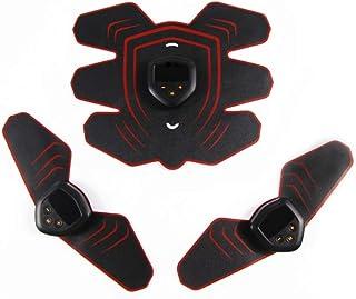 Electroestimulador Muscular EMS, Ejercicio de Adelgazamiento Abdominal, Ejercitador Abdominal Inteligente, Estimulación eléctrica Perezosa, Máquina de Ejercicios para el Cuerpo Muscular, Red