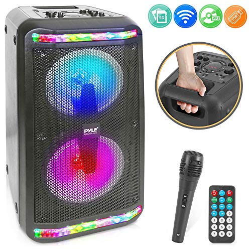 %40 OFF! Portable Bluetooth PA Speaker System - 600W Rechargeable Outdoor Bluetooth Speaker Portable...