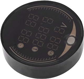 KSTE 3-en-1 Temps Thermom/ètre Moto /électronique num/érique Voltm/ètre Horloge Indicateur de temp/érature