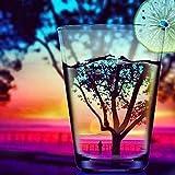 Sunset botella de vino paisaje 5D kit de pintura de diamante kit de punto de cruz de resina, bricolaje bordado a mano pintura animales, bordado de cristal, artesanía de d(diamante cuadrado 30 * 40 cm)