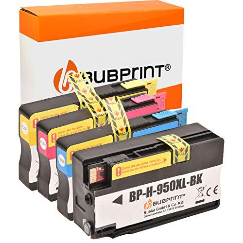 Bubprint 4 Cartucce compatibile per HP 950XL 951XL 950 951 XL per Officejet Pro 251dw 276dw 8100 8600 plus 8610 8615 8616 8620 8660 Nero + Tricromia