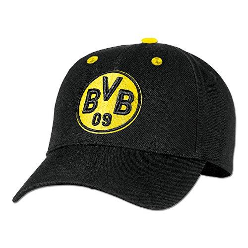 Borussia Dortmund Herren Bvb-kappe, Schwarz/gelb, Einheitsgröße
