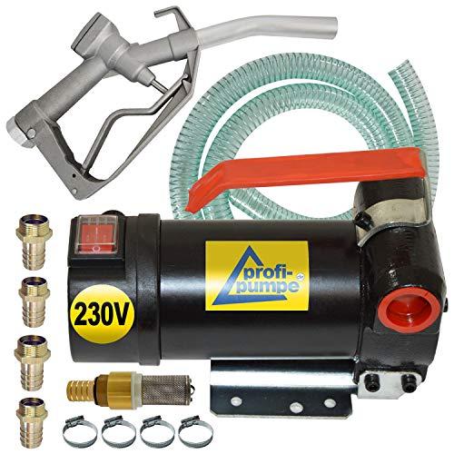 Dieselpumpen Heizölpumpe Biodiesel elektrische Kraftstoffpumpe Ölpumpe Fasspumpe Dieselpumpe Umfülpumpe Selbsansaugend mit Zapfpistolle, Zubehör Set Diesel Star 160-4-230V