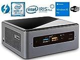 Intel NUC NUC8i7BEH Mini PC/HTPC, Intel Quad-Core i7-8559U Upto 4.5GHz, 16GB DDR4, 256GB SSD, WiFi, Bluetooth, Thunderbolt 3, 4k Support, Dual Monitor Capable, Windows 10 Pro (16GB Ram + 256GB SSD)