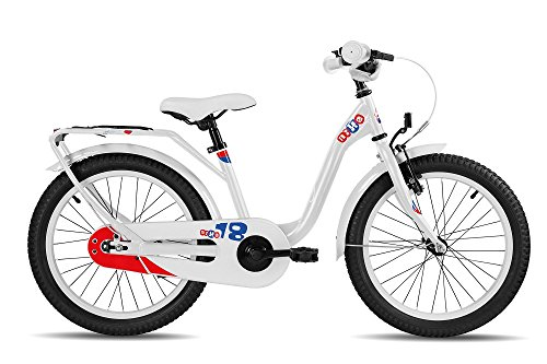 S'COOL Kinder Nixe Steel 18 Kinderfahrrad, White/Blue/Red, 18 Zoll